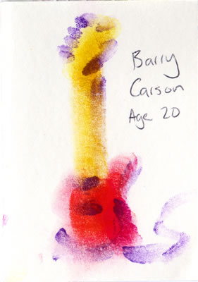 a finger painting by Barry Carson, Age 20