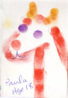 a finger painting by Paula, Age 18